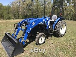 New Holland Workmaster 45 Farm Tractor. With Loader. 16 Hours. Wow. Shuttle Trans
