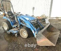 New Holland tc21 Loader 4x4 tractor compact Diesel Hydrostatic Belly Mower