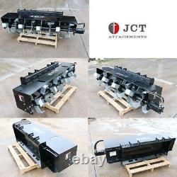 New Skid Steer Loader 72 Roto Tiller Hydraulic Rotary Garden Quick Attach 6 mtl