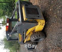 New holland Ls180 skid steer loader runs and operates like it should. 2 speed