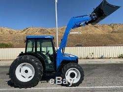 New-holland Tn75d 4x4, Ac, Loader, Low Hours, New Tires, California Tractor