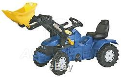 Rolly Toys NEW HOLLAND TD 5050 Ride on Pedal Tractor with Trac Loader Age 3-8