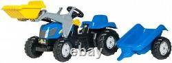 RollyKid New Holland T7040 & front loader with trailer (DD)