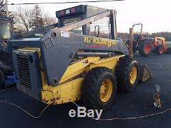 USED New Holland LS180 Skid Steer Loader, Hi Flow, 60HP, New Tires & Seat