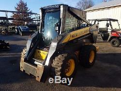 USED New Holland LS190 Skid Steer Loader, 90HP, Cab, 2 Speed, HVAC
