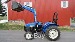 VERY NICE NEW HOLLAND TT45A UTILITY TRACTOR With LOADER 217 HOURS 40HP DIESEL